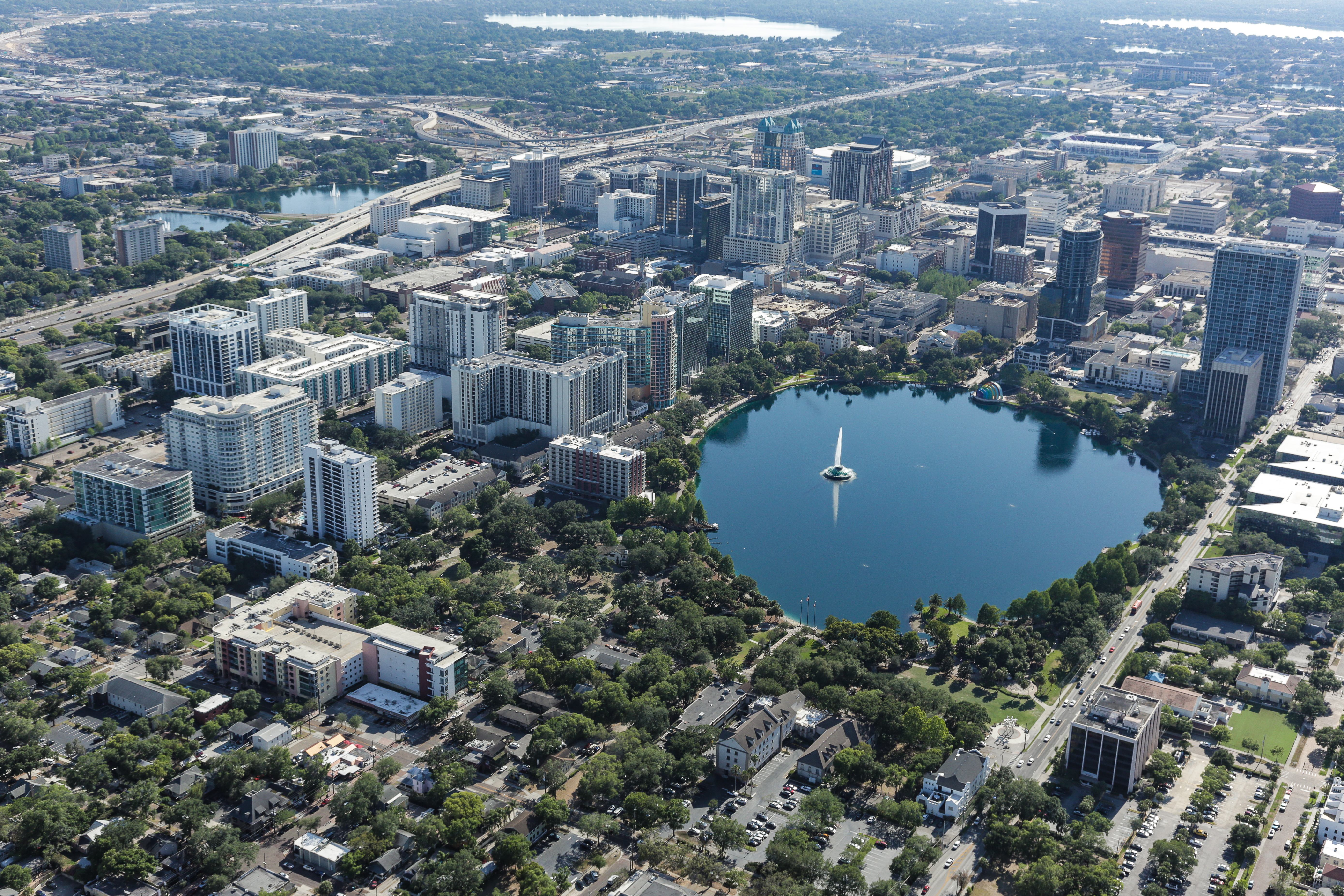 Orlando downtown aerial