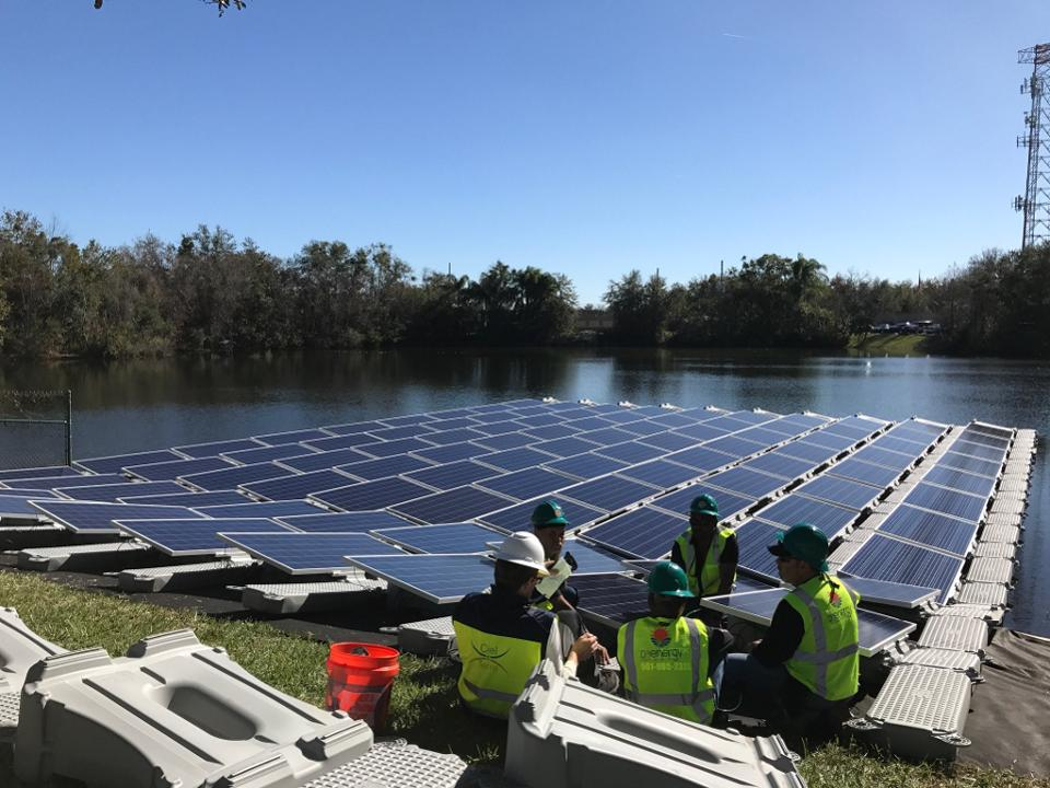 OUC floating solar grid