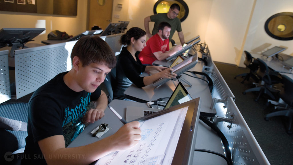 Full Sail digital media students