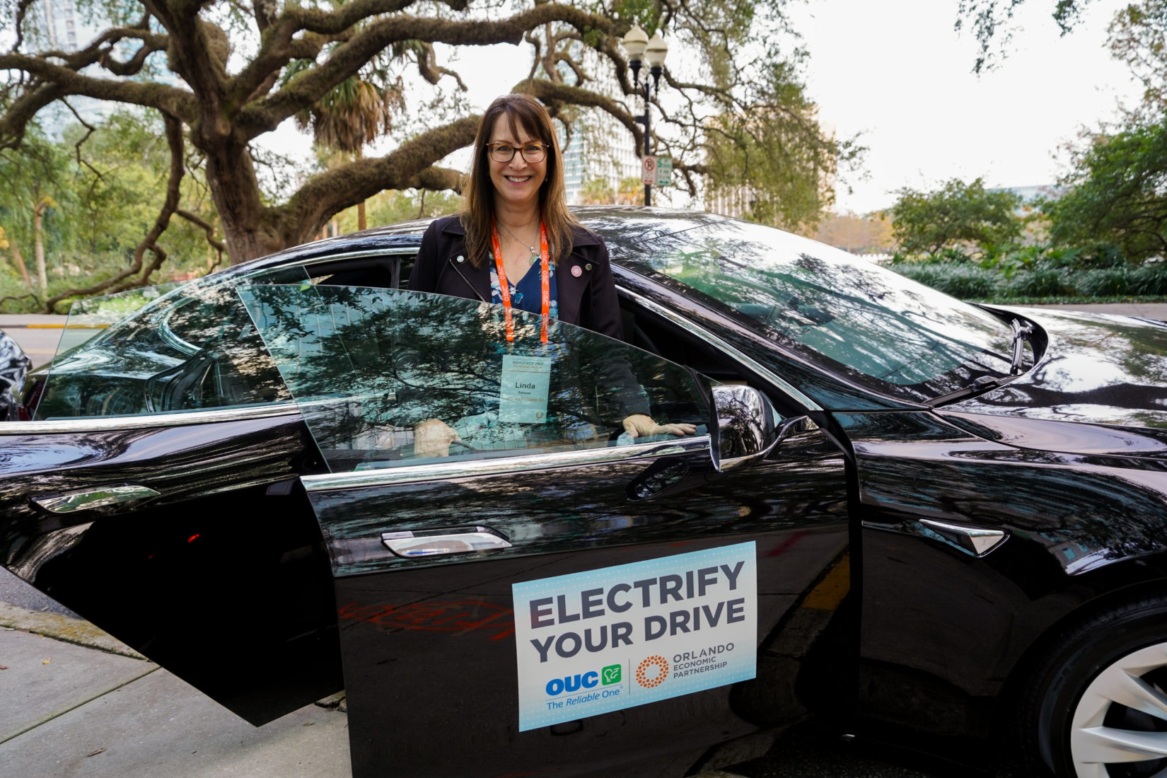 OUC Electric Tesla Tallahassee Drive Up